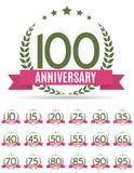 Stor samlingsuppsättning av mallen Logo Anniversary Vector Illustrat Royaltyfria Foton
