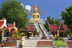 Stor samui Thailand för buddha tempelko royaltyfri fotografi