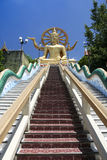 Stor samui Thailand för buddha tempelko Fotografering för Bildbyråer