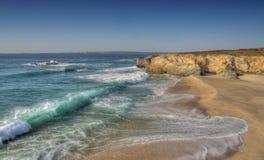 stor seascapebränning arkivfoto