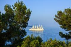 Stor segelbåt Royaltyfri Fotografi