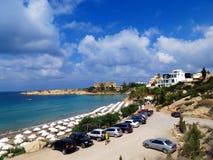Stor semesterort på kusten av Cypern royaltyfri fotografi