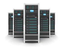 Stor server fem stock illustrationer