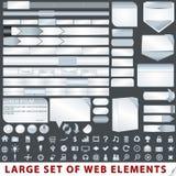 Stor set av element för rengöringsdukdesign vektor illustrationer