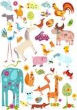 stor set för djur royaltyfri illustrationer