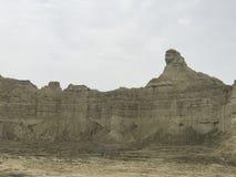 Stor sfinxHingol nationalpark nära den Kund Malir stranden, Balochistan arkivbild