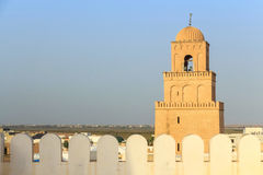 Stor Sidi Oqba moské i Kairouan, Tunisien arkivbild