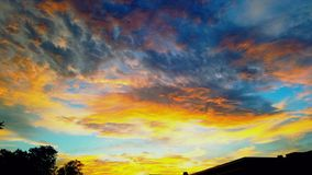 Stor sikt av himlen Arkivbilder