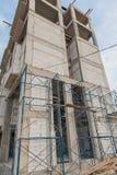 Stor sikt av hotellkonstruktionsplatsen i Thailand Royaltyfri Bild