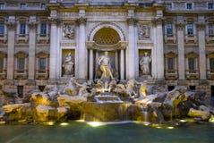 Stor sikt av Trevi-springbrunnen i Rome, Italien Royaltyfri Fotografi