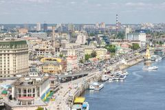 Stor sikt i Kiev Arkivbilder