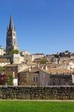 Stor sikt på Saint Emilion. Frankrike Royaltyfri Bild