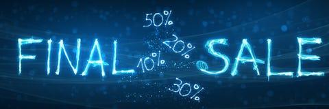 Stor sista försäljning, special varm försäljningserbjudandebakgrund Arkivbild