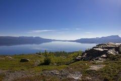 Stor sjö i norr Sverige Royaltyfria Foton