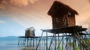 Stor sjö Prespa, Makedonien Arkivfoton