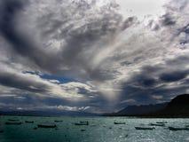 stor sky Royaltyfria Bilder