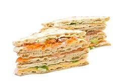 stor smörgås Arkivbild