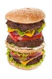 Stor smaklig toppen högväxt hamburgare Royaltyfri Bild