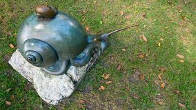 stor snail royaltyfria foton