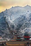 stor snowvägg Royaltyfria Bilder