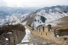 stor snowvägg för porslin royaltyfria foton