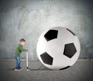 Stor soccerball Arkivbilder