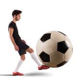 Stor soccerball Arkivfoto