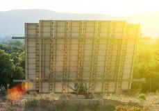 Stor sol- panel Arkivfoton