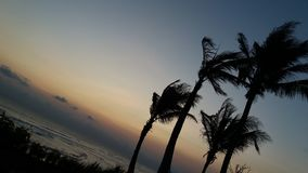stor solnedgång Royaltyfria Bilder