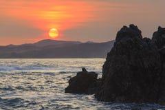 stor solnedgång Arkivfoton