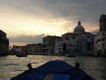 stor solnedgång för kanal arkivfoton
