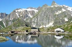 Stor St Bernard Pass arkivbild