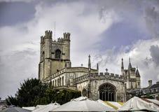 Stor St Marys universitetkyrkan, Cambridge Arkivbild