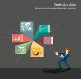 stor statistik för affärssamling Arkivbild