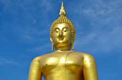 Stor statybild av buddha Arkivbild