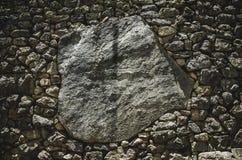 Stor sten i Machu Picchu Arkivfoto