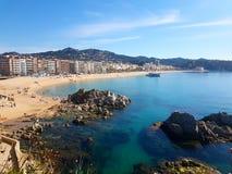 stor strand royaltyfria bilder