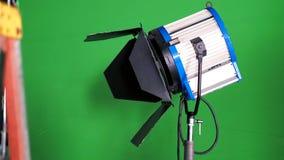Stor studio LEDD strålkastare för video produktion arkivbild