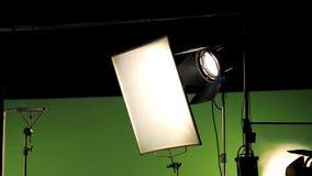 Stor studio som tänder satsen 5000 watt med den mjuka asken Royaltyfria Foton