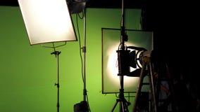 Stor studio som tänder satsen 5000 watt med den mjuka asken Arkivfoton
