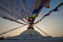 Stor stupa i Katmandu, Nepal november royaltyfria bilder