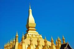 stor stupa vientiane Arkivbilder