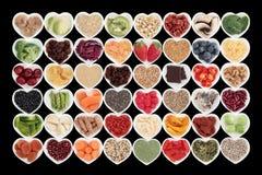 Stor Superfood samling Arkivbild