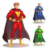 Stor Superhero stock illustrationer