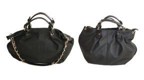 Stor svart handväska Royaltyfria Bilder