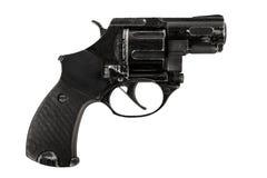 Stor svart revolver Arkivbilder