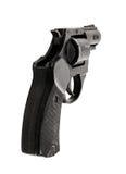 Stor svart revolver Royaltyfri Foto