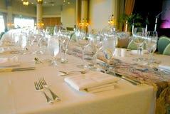 stor tabell för matställe Royaltyfria Bilder