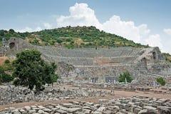 Stor teater i Ephesus, Turkiet Arkivbild