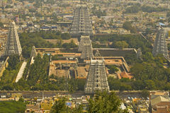 Stor tempel i Tiruvanumalai, Tamilnadu, Indien Arkivfoton
